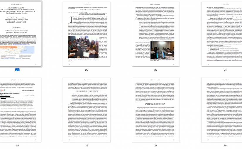 Proyecto Carrito article published in Literacy in Composition Studies special issue