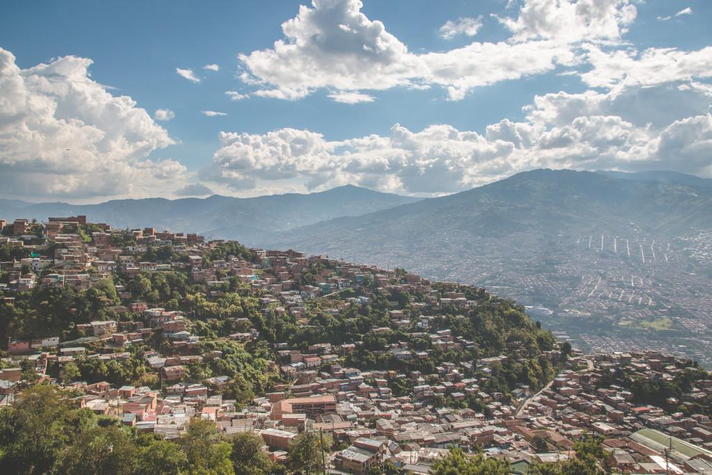 La ciudad de Medellín, Colombia.