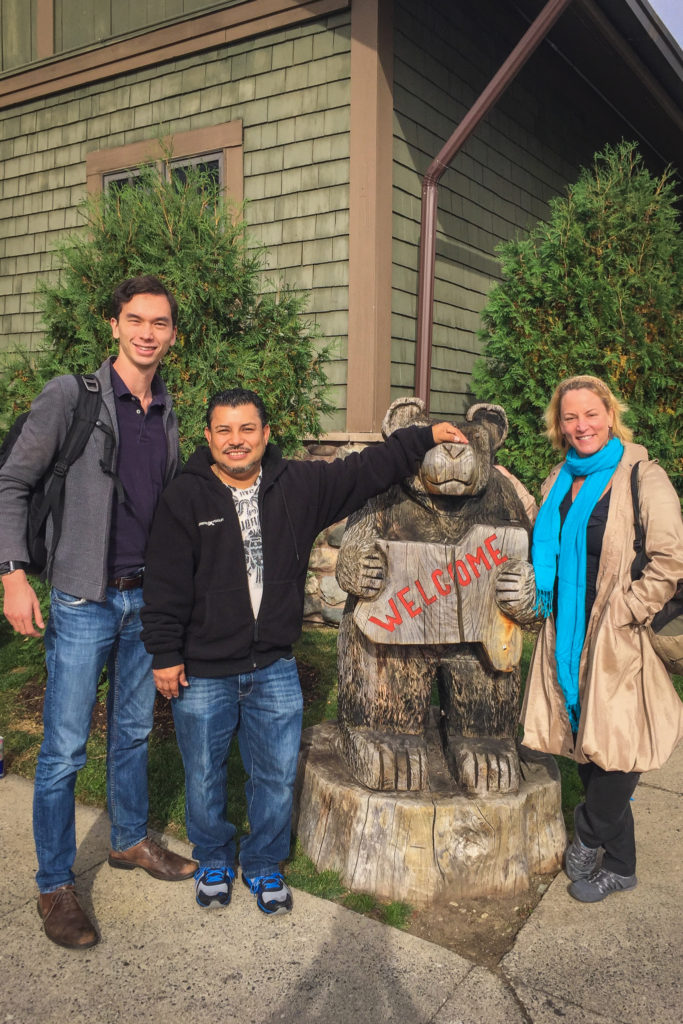 Proyecto Carrito Caravan co-directors Ryan Catalani, Mario Ernesto Osorio, and Tamera Marko in upstate New York.