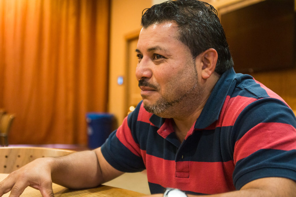 Mario Osorio, Proyecto Carrito Caravan co-director and Emerson maintenance worker, speaks at the University of Denver.