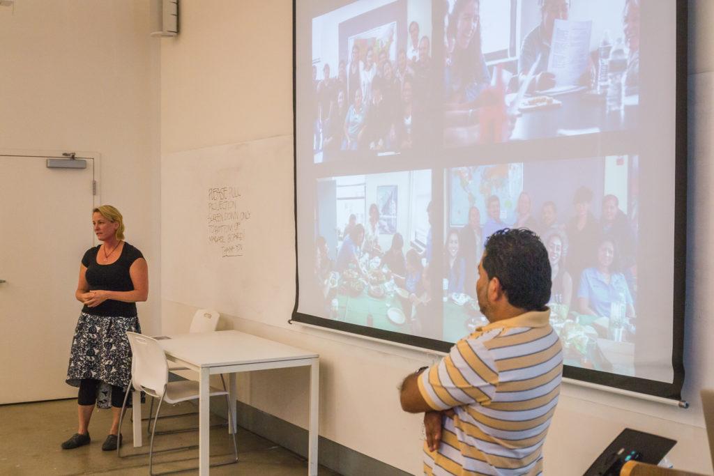 Proyecto Carrito Caravan co-directors Tamera Marko, Ph.D. and Mario Ernesto Osorio present at Woodbury University.