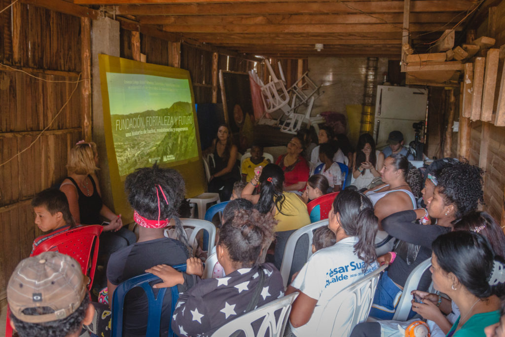 This summer, Emerson students showed a rough cut of the film to residents of Manantiales de Paz.